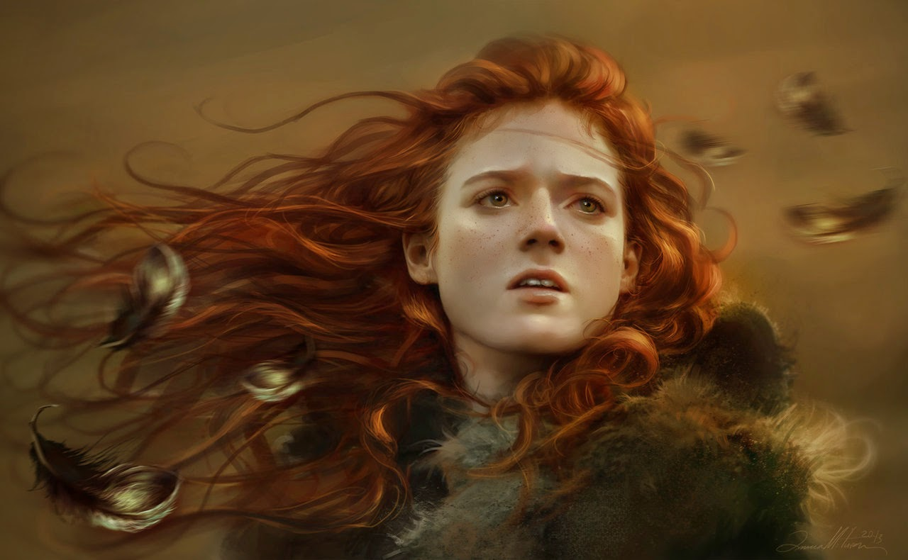 09-Ygritte-Ania Mitura-GoT-Game-of-Thrones-Digital-Paintings-www-designstack-co