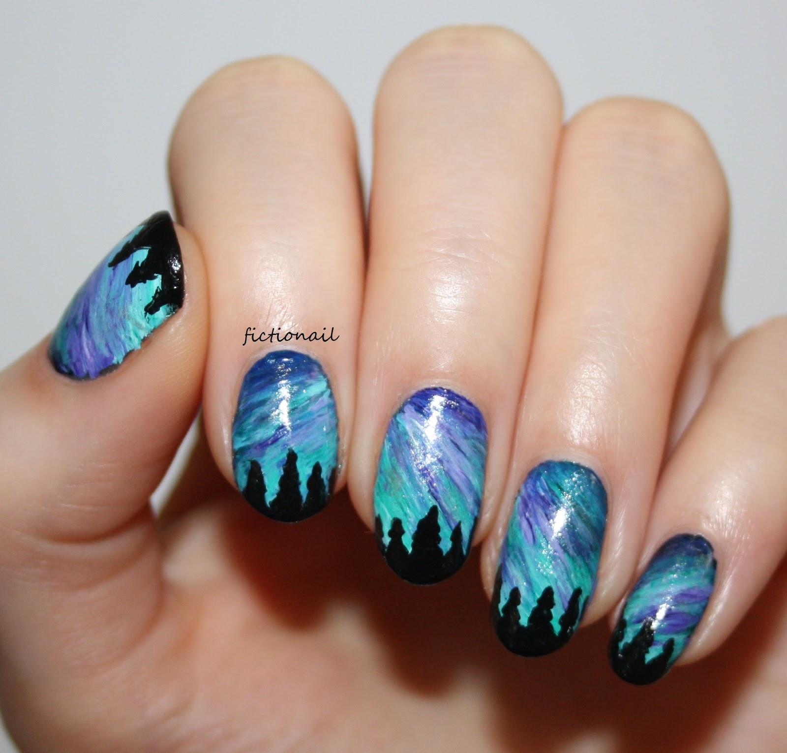 Northern Lights Nail Art