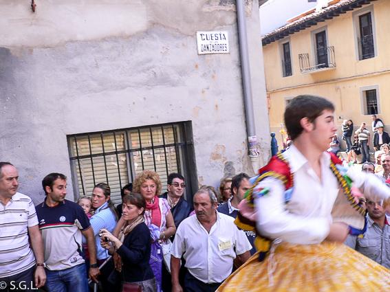 Cuesta de los danzadores en Anguiano. La Rioja