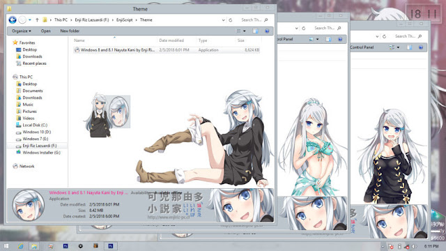 Windows 8/8.1 Theme Nayuta Kani by Enji Riz