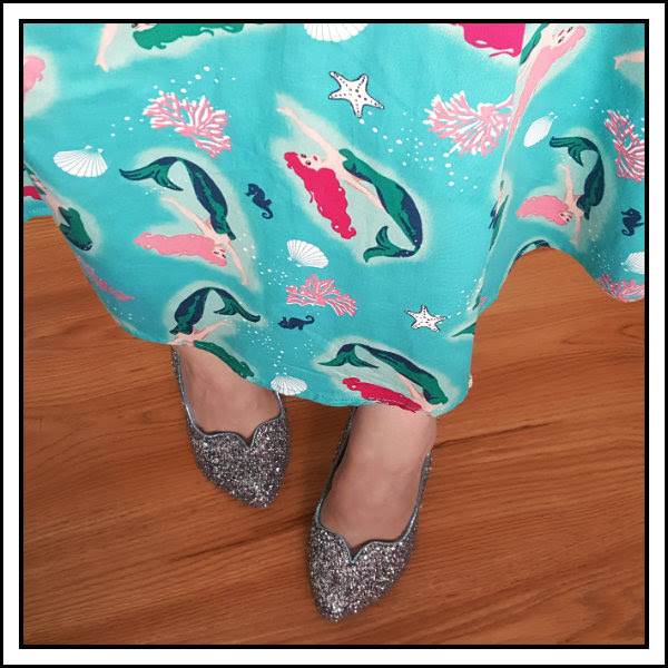 wearing collectif dolores mermaid irregular choice sparkling slipper cinderella
