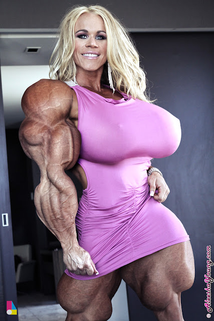 Aleesha Young Area Orion female muscle morph