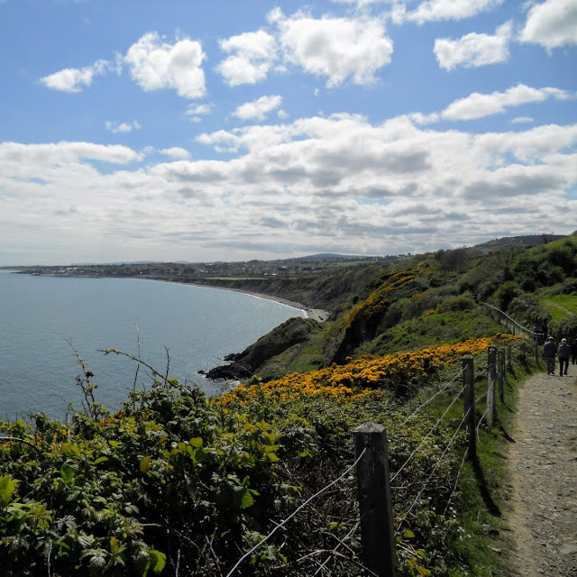 Bray to Greystones coastal walking path in Dublin Ireland