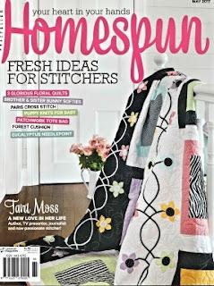 Australian Magazine Homespun May 2017