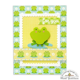 Doodlebug Design Spring Things Frog Card by Mendi Yoshikawa