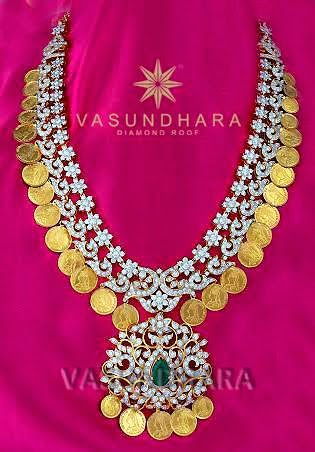 Intricate Gold And Diamond Kasulaperu 22kgolddesigns