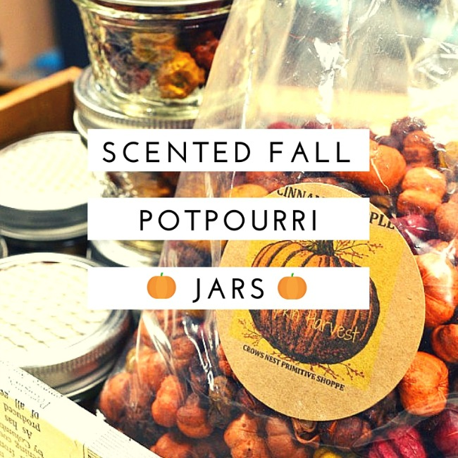 Adorable scented fall potpourri jars as gifts www.homeroad.net