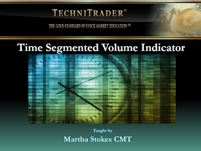 screen shot of the time segmented volume indicator webinar - technitrader
