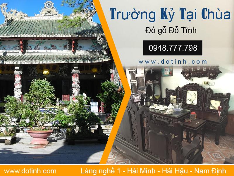 Mẫu trường kỷ Hải Minh đẹp trong nội thất đền chùa