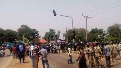 Military and Television  boys Clash in Kaduna! (See disturbing photos)