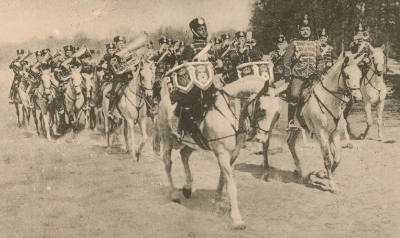 Kettledrummer Elo Sambo, Prussian Life Guard Hussars.