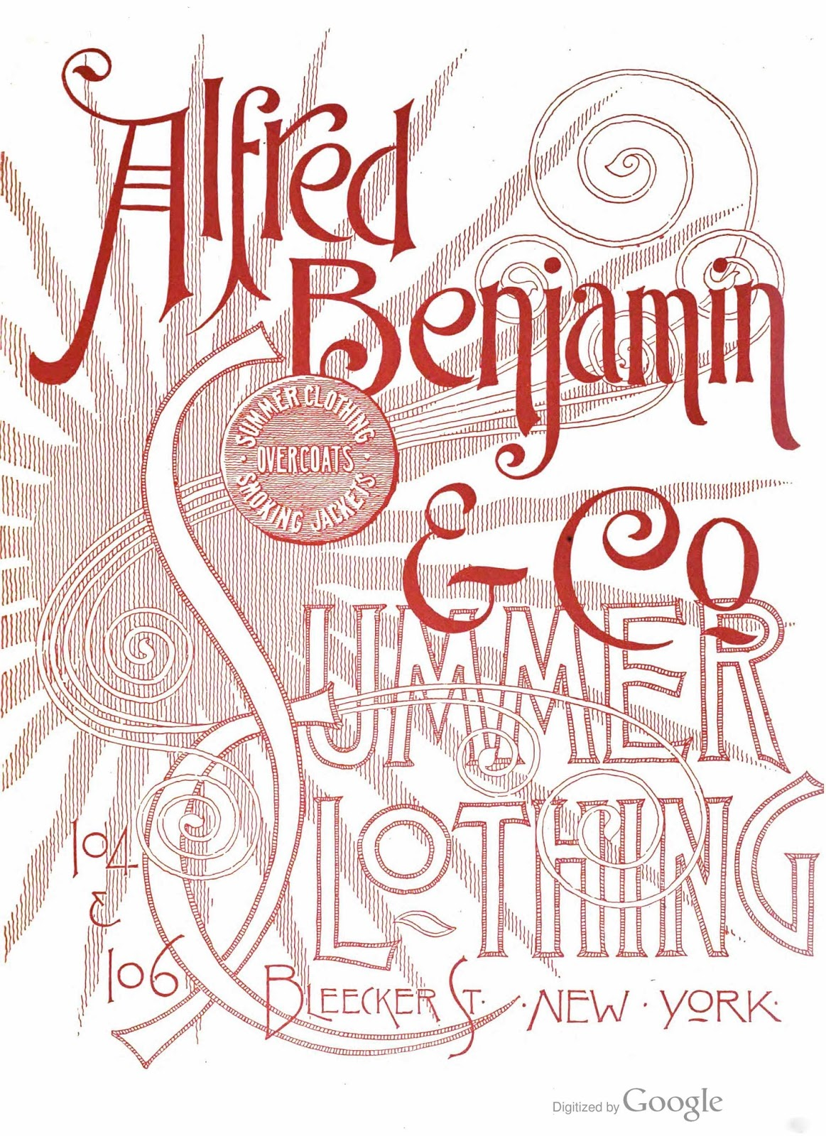 Tenth Letter of the Alphabet: Lettering: Alfred Benjamin & Co.