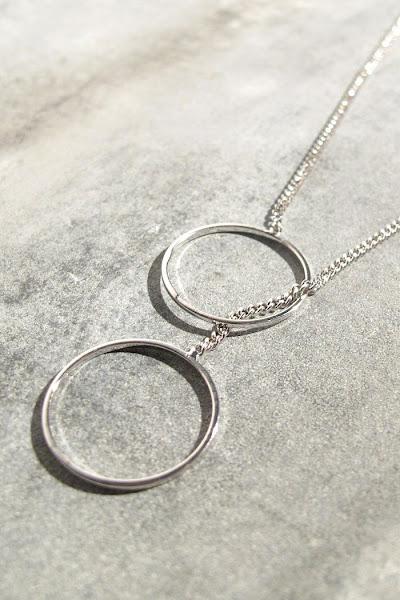 Sautoir Ring argenté Viveka Bergstrom