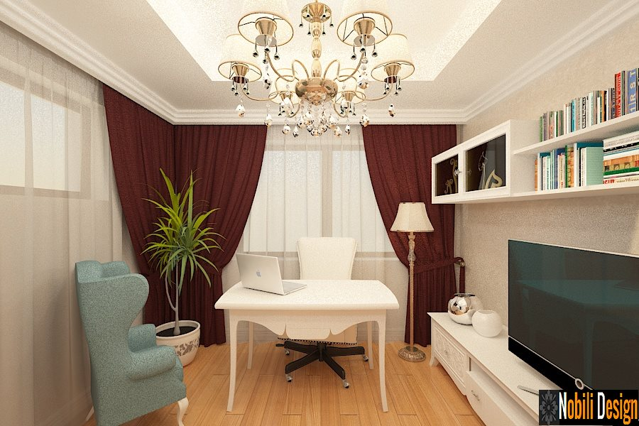 Design interior birou stil clasic Bucuresti - Servicii design interior - Arhitect | Amenajari Interioare