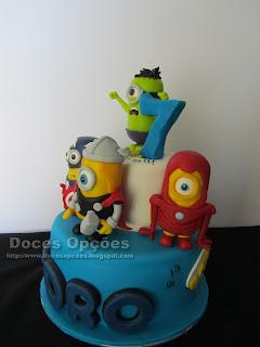 bolo minimos super herois bragança