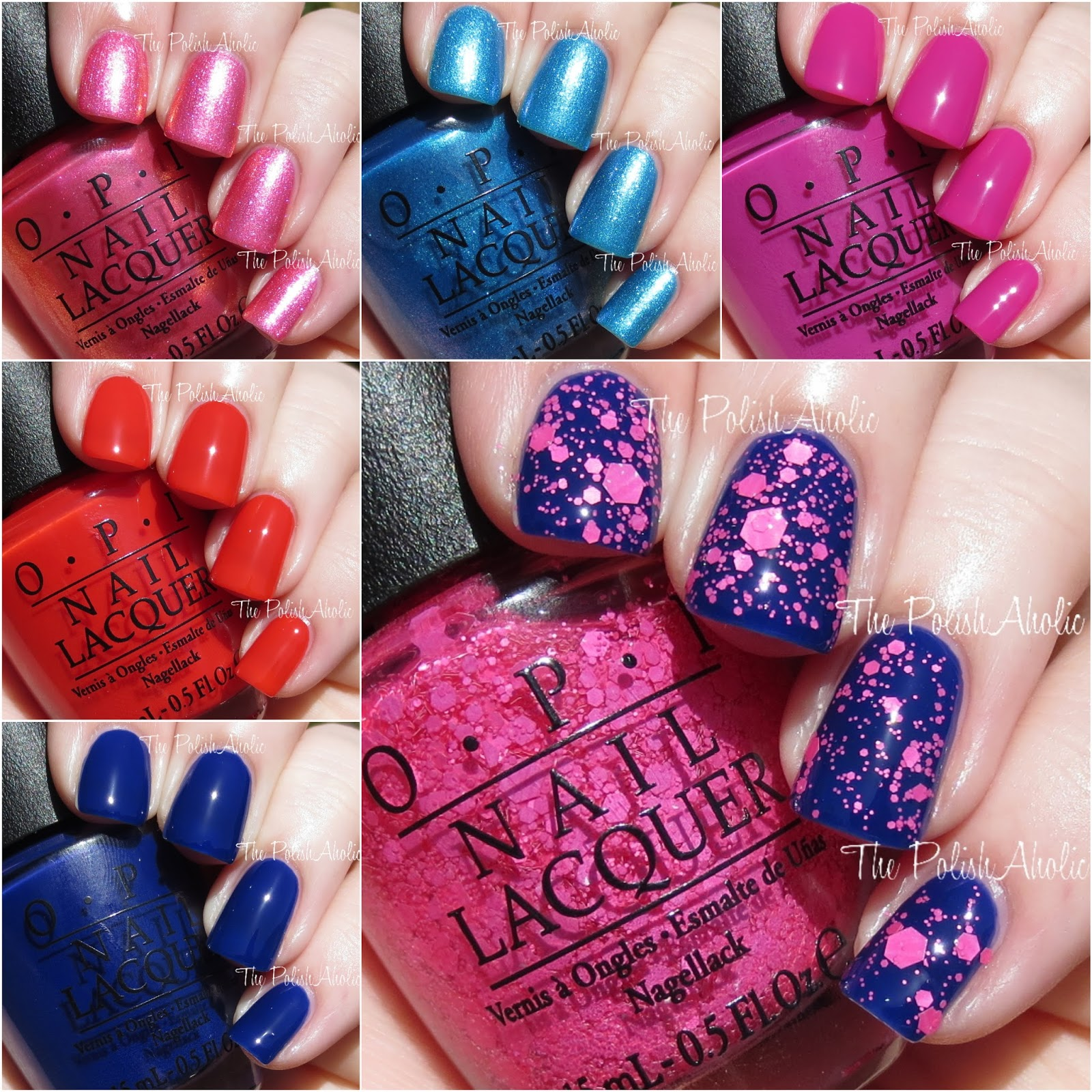 the polishaholic opi 2015 brights collection swatches review