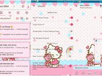 Download Delta BBM Tema Hello Kitty Pink Keren V3.0 Apk Terbaru