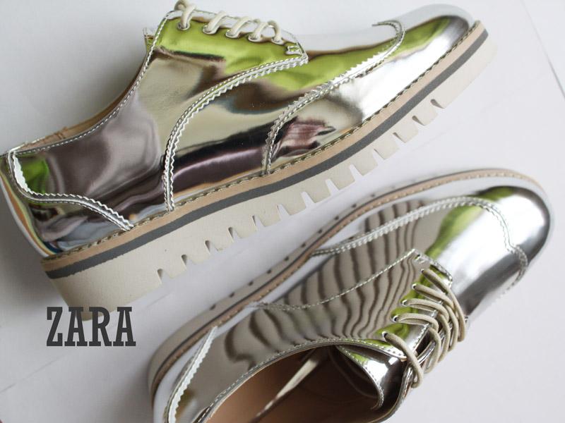 Zara Zara Zapatos zapatos 2 Plateados N8nmOv0w