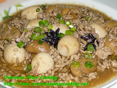 Asadong Pork Giniling with Quail Egg and Mushroom