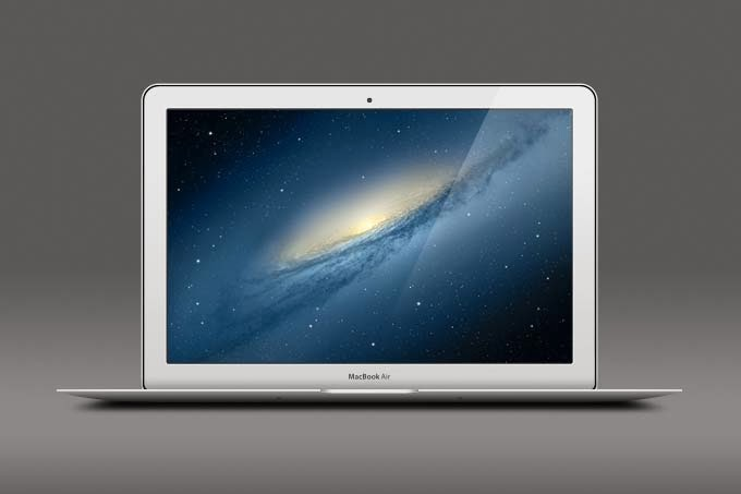 Macbook Air PSD Template