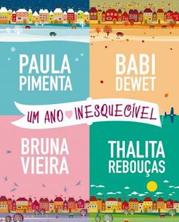 Livro que reune quatro escritoras em destaque atualmente narrando 4 contos referentes a quatro estações, #BabiDewet ,#PaulaPimenta ,#BrunaVieira ,#ThalitaRebouças