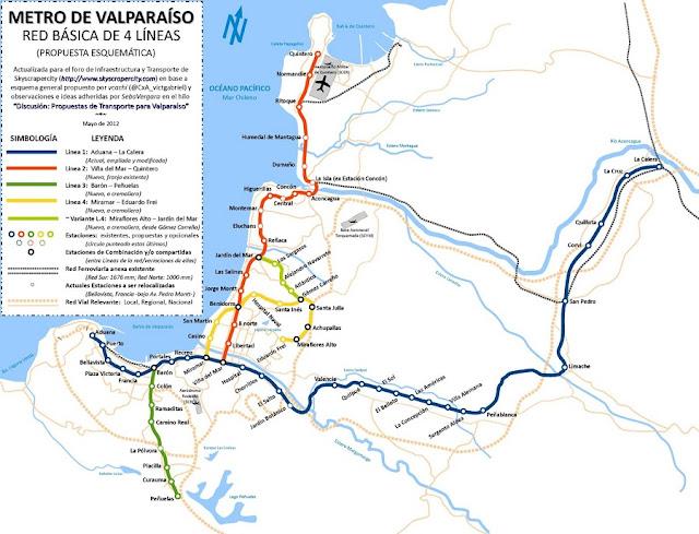 Como ir de Viña del Mar à Valparaíso de metrô