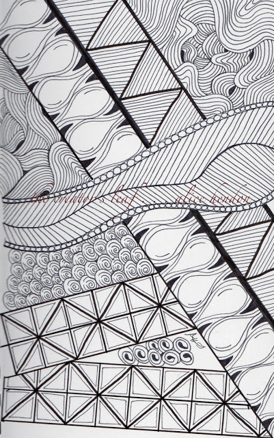 art featuring tangle pattern line dance, Alice hendon