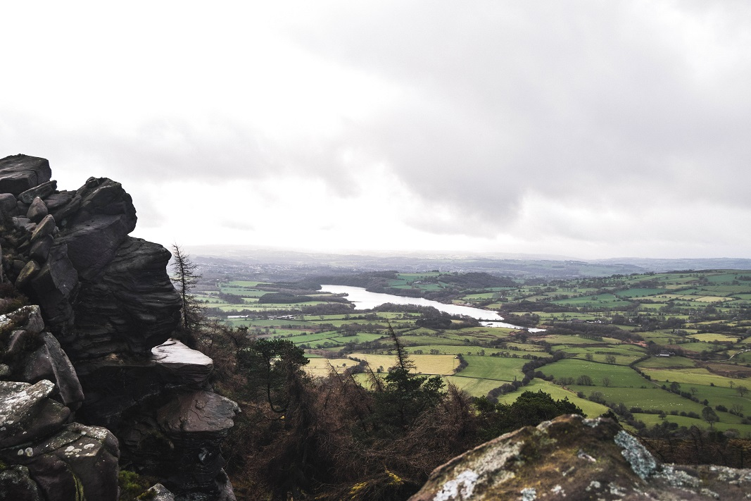 A view from the roaches in the Peak District