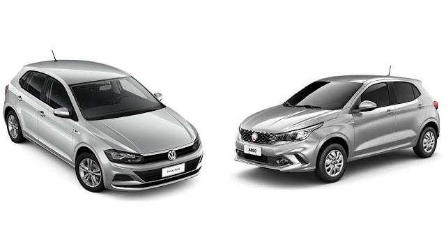 Volkswagen Polo x Fiat Argo - comparativo se seguro