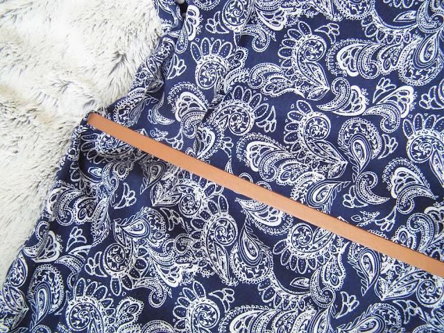 Primark Haul - Spring 2016 Blue print dress with tanned belt