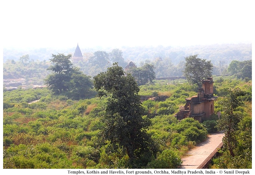Ruins of old kothis, havelis and temples, Orchha fort, Madhya Pradesh, India - Images by Sunil Deepak