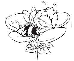 Biene Maja Und Blumen Malvorlagen Kostenlos Malvorlagencr