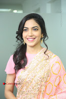 Actress Ritu Varma Pos in Beautiful Pink Anarkali Dress at at Keshava Movie Interview .COM 0115.JPG