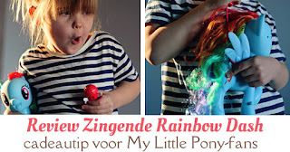 Zingende Rainbow Dash review
