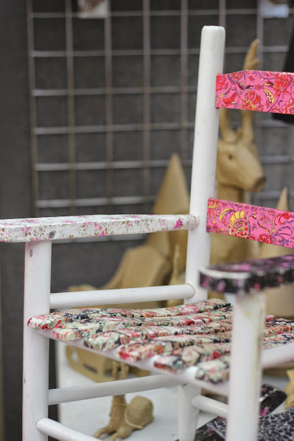 Decoupaged childrens chair