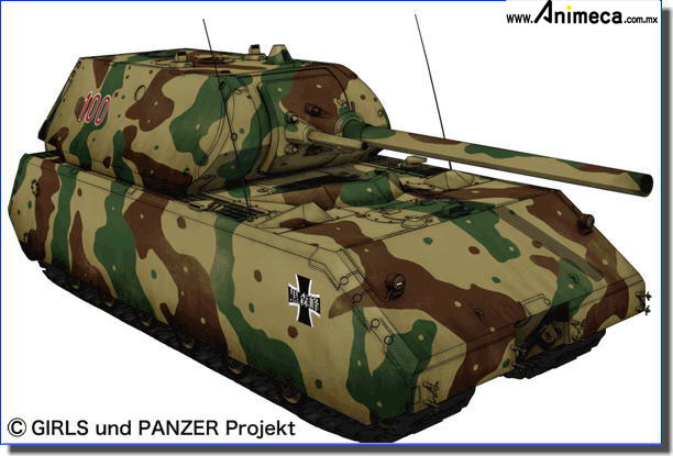 MODEL KIT 1/35 GP-9 Maus Kuromorimine Girls High School Custom Girls und Panzer