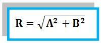 rumus besar/nilai resultan 2 vektor tegak lurus