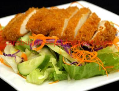 Foto Resep Chicken Katsu Sederhana Rumahan Khas Jepang Spesial Ayam Katsu Salad dan Saus Asli Enak