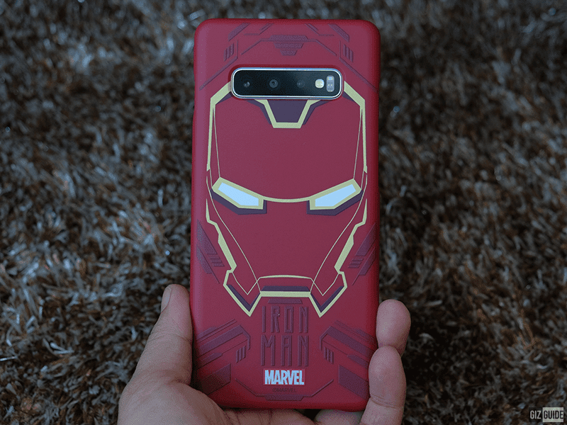 S10+ with the Iron Man smart cover