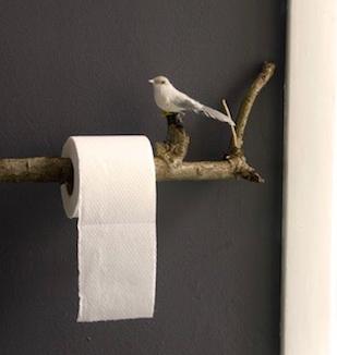 vessapaperiteline, lintu, oksa, vessapaperi