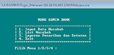 Membuat Program Menu Admin Bank Dengan C++