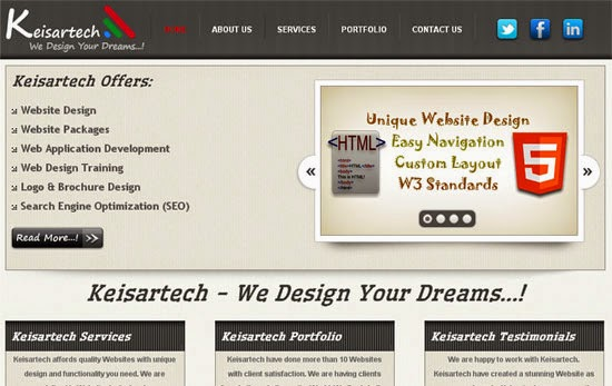 keisartech free webdesign html php template learn from net
