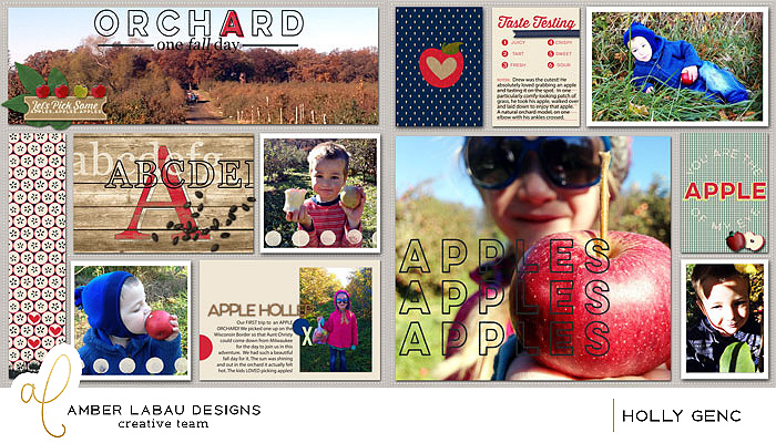 In the Orchard, Amber LaBau Digi LO's by Holly Genc of www.paintedladiesjournal.com