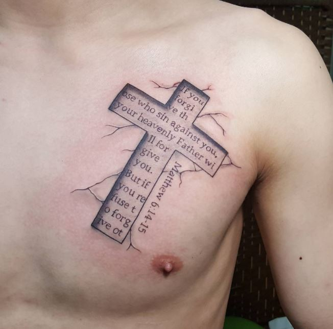 150 Unique Christian Tattoos For Men 2019: 50+ Best Bible Verse Tattoos For Men (2019)