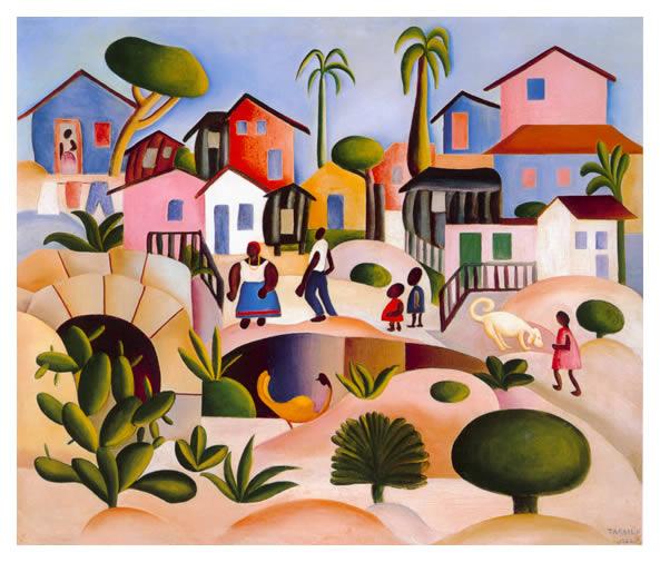 Morro da favela de Tarsila do Amaral