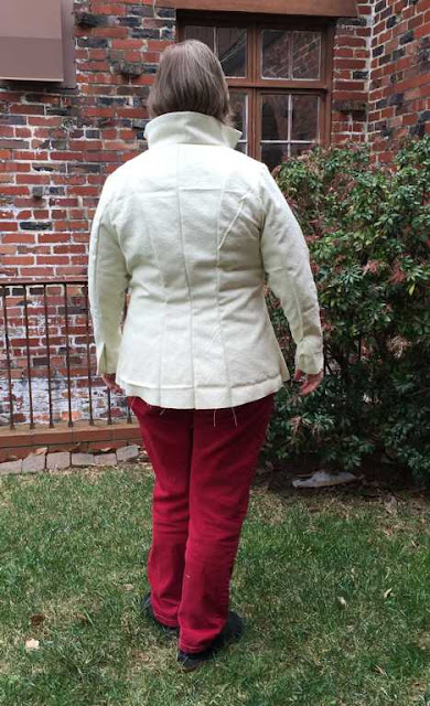 Jacket Muslin Back View