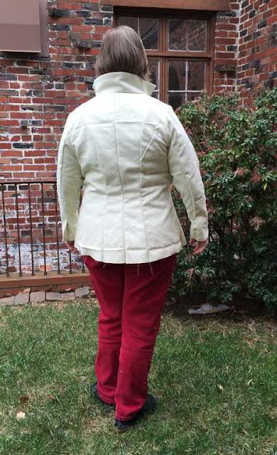 Jacket Muslin Back View