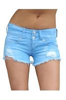 Pantaloni Scurti EVELIN BLUE Escape Star Jeans (Escape Star Jeans)
