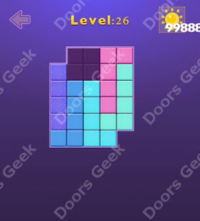 Cheats, Solutions, Walkthrough for Move Blocks Easy Level 26