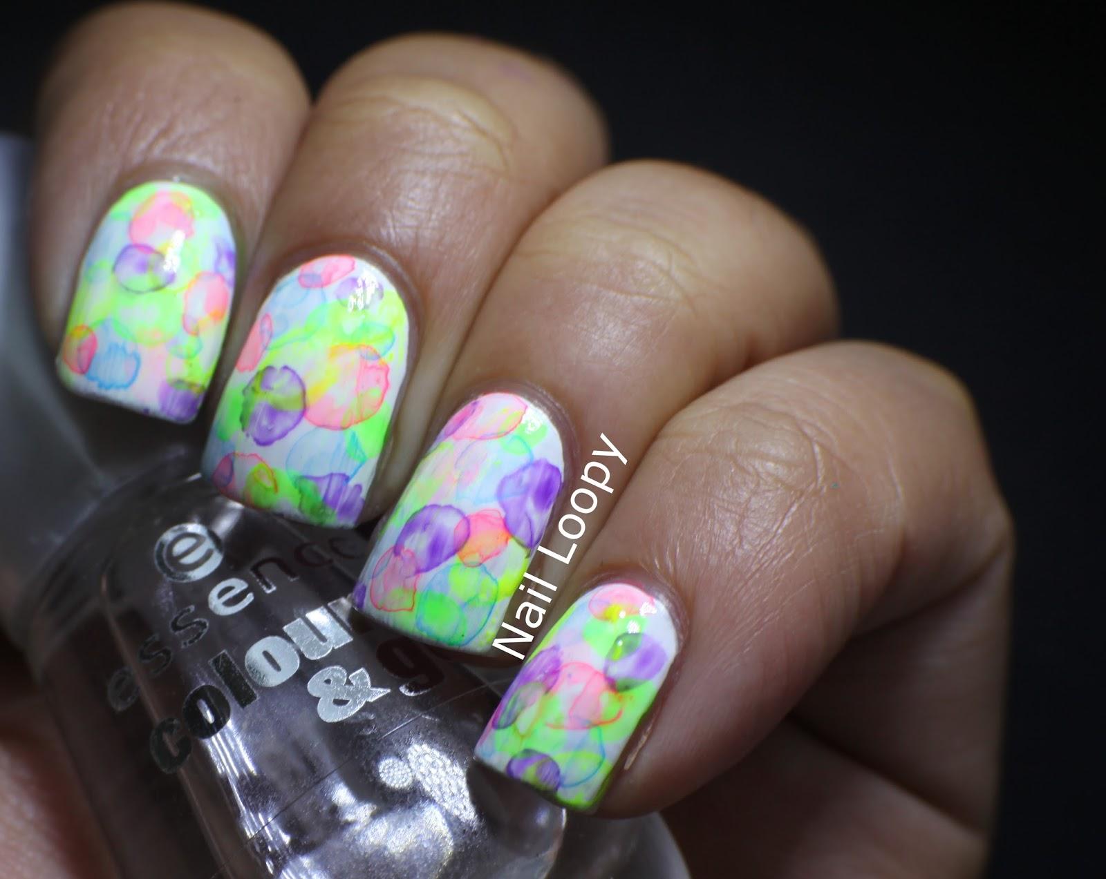 bubble nail art design nail loopy watercolour bubble nails
